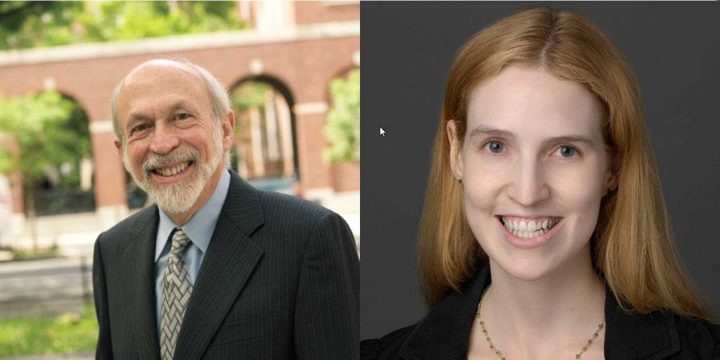 Professor Harry First and Lauren Rackow