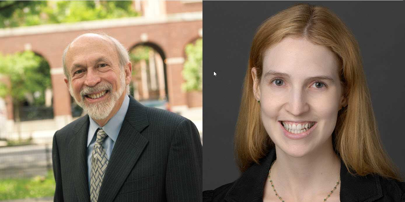 Professor Harry First and Lauren Rackow